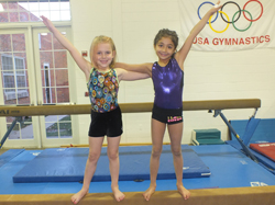 Jr. Girls Gym on Beam