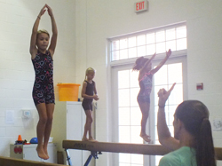 Gymnastics on beam