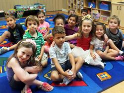Preschoolers on the carpet