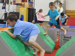 Jr. Warrior obstacle course