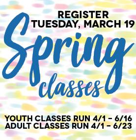 Spring Registration begins March 19